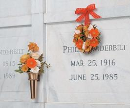 Orange and Peach Memorial Urn